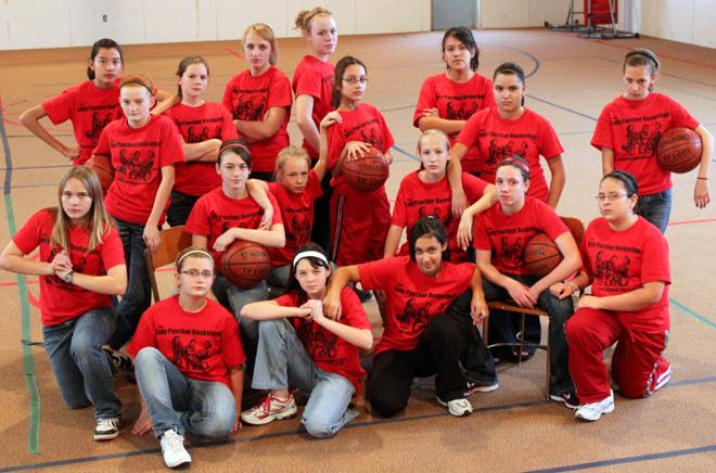 Girls Basketball Team Photo - Lady Panthers